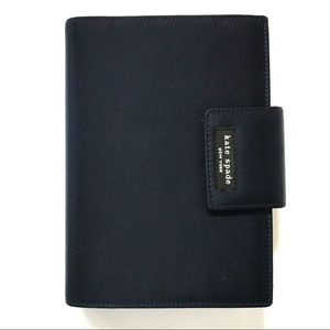 Kate Spade Navy Blue Nylon Planner with Extras